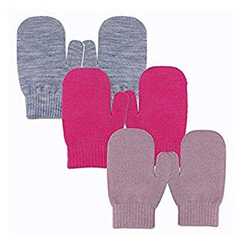 Apparel Accessories Winter Mittens Soft Warm Fleece Knitted Elastic Thickened Ski Gloves Casual Children Full Finger Gloves Hand Warmer Relieving Heat And Sunstroke