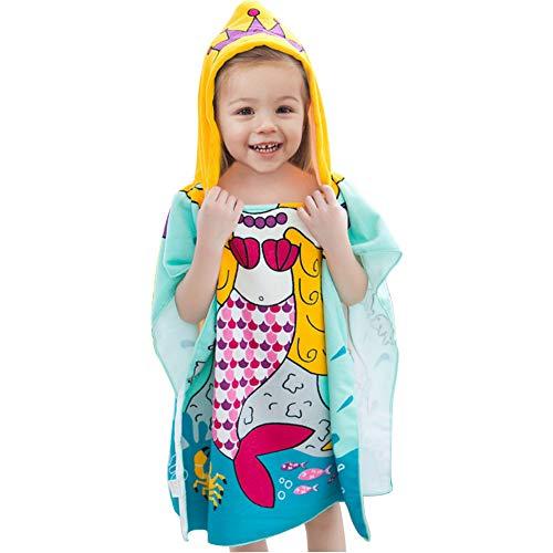 69e7202d0d4bd 子供バスタオル タオルポンチョ フードタオル 子供ビーチタオル 着るバスローブ プールタオル ポンチョベビー
