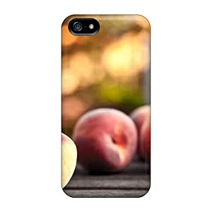 AlfredJWhite YKMNGEu7740yIpXr Case Cover Iphone 5/5s Protective Case Food And Drink Peaches