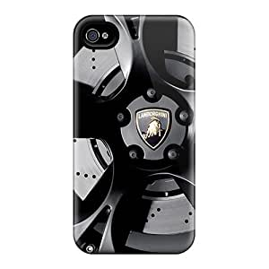 New Fashionable JackieAchar UZPLSfY8454EDazo Cover Case Specially Made For Iphone 4/4s(wheel Of Lamborghini)