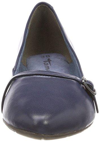 Tamaris Damen 24234 Geschlossene Ballerinas Blau (Navy Leather)
