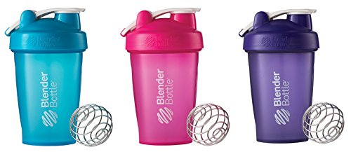Gancho de 20 onzas estilo botella de batidora con agitador paquete - todo Color Aqua / rosa / púrpura