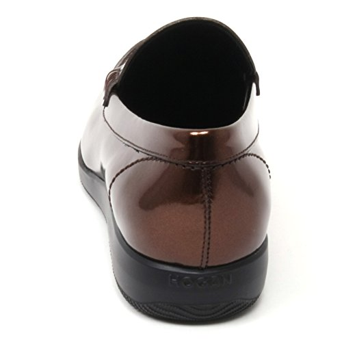 shoe HOGAN H209 B4715 XL donna scarpa loafer DRESS mocassino marrone Marrone woman 1q6zxF