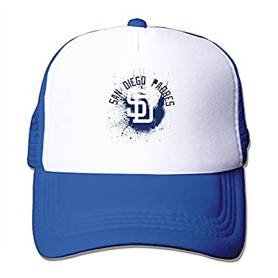 Custom San Diego Padres Baseball Cap Mesh Hat Snapback For One Size Fit All RoyalBlue