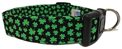 Adjustable Dog Collar in Shamrocks (U.S.A. Made)