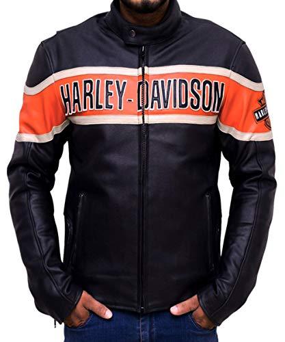 Western fashions Men, Women Harley Davidson Victory Lane Genuine Leather Jacket-s Black
