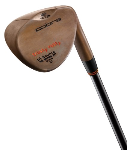 Cobra Trusty Rusty Wedge (Men's Left-Handed, 53 Degree Loft, Satin, True Temper Dynamic Gold S200 Steel Shaft with Non-Glare Coating, Wedge Flex)