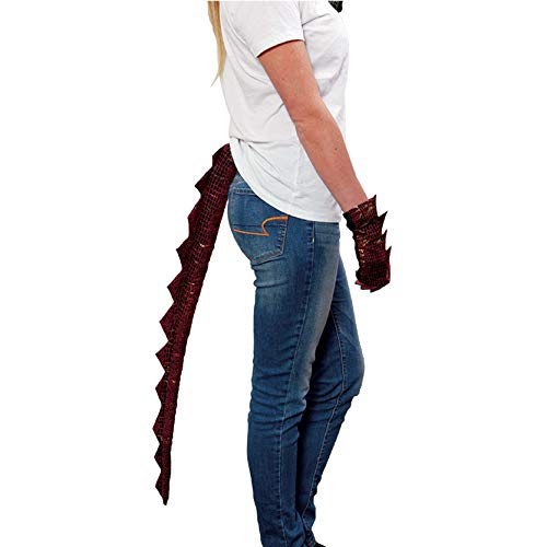 Adult Dragon Tail Costume Accessory, Red