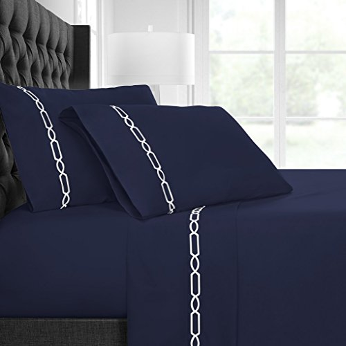 Italian Luxury Egyptian Luxury Embroidered Bed Sheet Set –