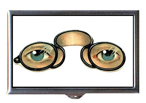 Steampunk Victorian Spectacles w/ Color Eyes Decorative Pill - Victorian Spectacles