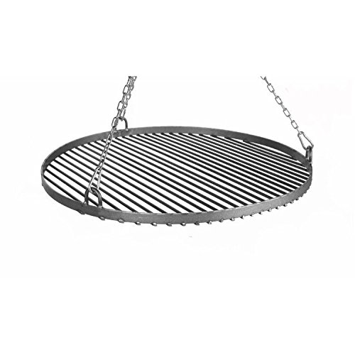 Fire Pit Pan 32 70cm Hanging Grill Pan Tripod Steel 60cm incl