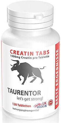 Taurentor Kreatin Monohydrat 1000mg Creatin: pro Tablette ein reines Creatin Monohydrat in einfach dosierbarer Form (120)