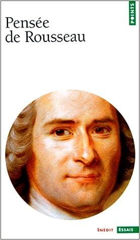 Livres gratuits Pensée de Rousseau pdf, epub