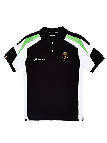 Automobili Lamborghini Squadra Corse Polo Shirt, Black - Michael Corse