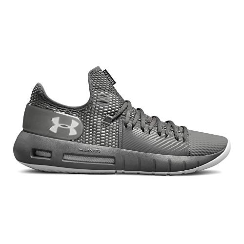 Under Armour Men's Drive 5 Low Basketball Shoe, Graphite (101)/White, 8.5