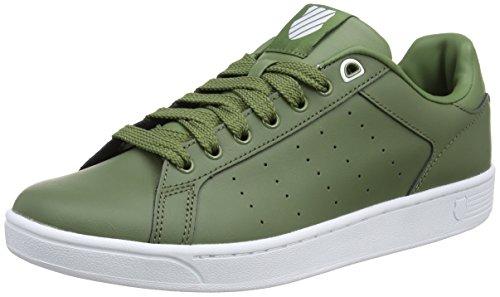 K-Swiss Herren Clean Court CMF Sneakers Schwarz(OLIVINE/WHITE 312)