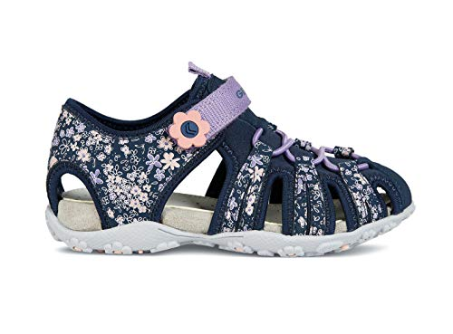 Geox Roxanne Girls Sandals/Little Kids/Youth, Navy, 3