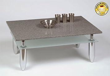 Couchtisch Wohnzimmertisch Granit Mit Ablage Glas Amazon De Kuche