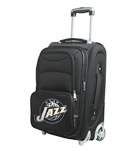 Denco NBA Utah Jazz In-Line Skate Wheel Carry-On Luggage, 21-Inch, Black by Denco