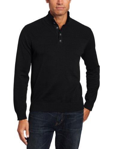 John Henry Men's Button Mock Sweater
