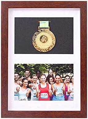xj Marco para exhibir medallas, Medalla de Deportes Cuadro en 3D Marcos de Fotos, Enmarcado de imágenes Color Negro Directo y Nogal Cuadro de Cuadro Profundo en 3D para Mostrar Guerra/Militar: Amazon.es:
