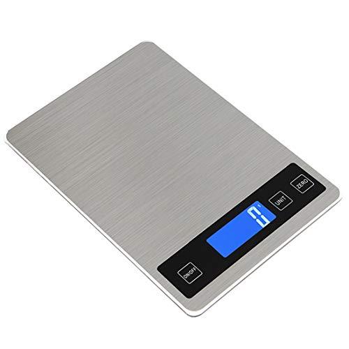 GIORAL 1g Balanzas de aleación portátil de balanza Digital de Cocina de Alta precisión para Hornear (Color : Silver,...