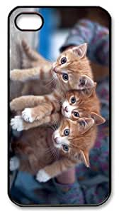 cases on sale three cute kittens PC Black Case for iphone 4/4S