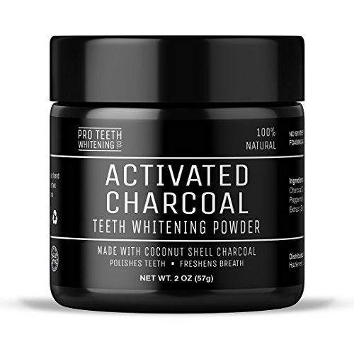 Activated Charcoal Natural Teeth Whitening Powder by Pro Teeth Whitening Co® | Manufactured in England 414DRl8Gw7L