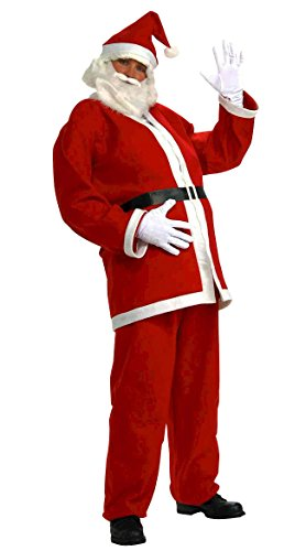 MITIAO Adult Christmas Cosplay Santa Claus Costume Set As the picture (Santa Overalls)