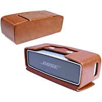 Tuff-Luv Vintage Genuine Leather NFC Travel Case for Bose Sound Link Mini / Mini II With NFC tag - Brown
