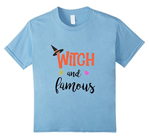 Kids Witch and Famous T-shirt 8 Baby Blue - Famous Brothers Costumes
