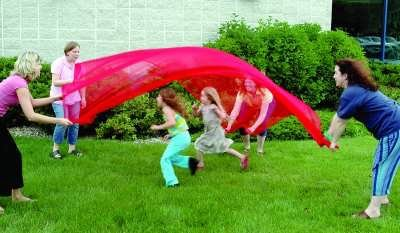 Scarf Canopy, 9' X 9', Red