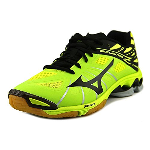 Mizuno Women's Wave Lightning Z Green/Black/Slate Ankle-High Fashion Sneaker - 10.5M (Volleyball Junior Shoes)