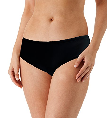 Shadowline Women's Plus Size Spandex Hipster 3-Pack,Black,1X