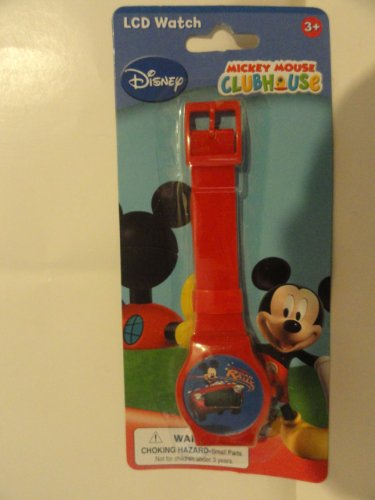 Disney LCD Red Mickey Mouse Clubhouse Digital Watch for Children - Road Rally