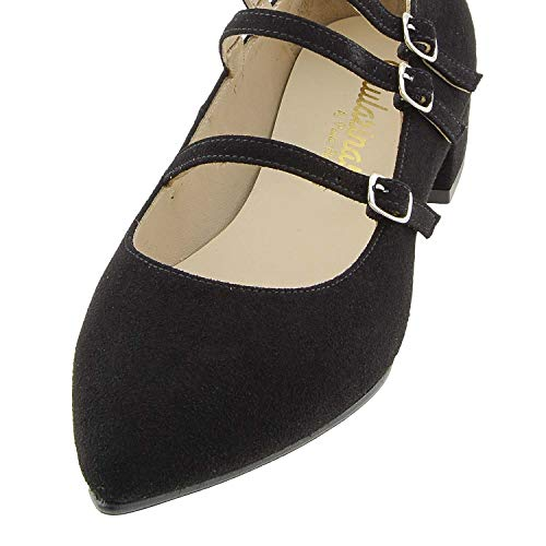 Piel Negro Zapatos Merceditas Zapatos Merceditas Zapatos Negro Piel ExzqgxCw1