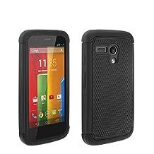 theMobileArea Motorola Moto G XT1032 Rugged Impact Heavy Duty Dual Layer Shock Proof Case Cover Skin - Black