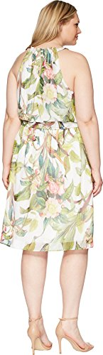Damen Multi Kleid AP1D102211W Adrianna Papell Ivory 6gTwHvq