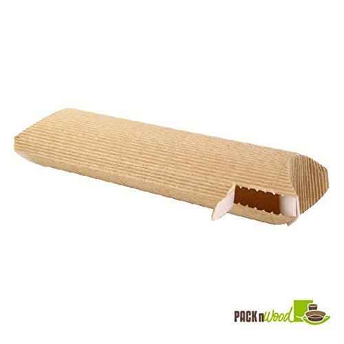 Packnwood 210ETNINI 9.4 x 3.9 x 2.3 in. Corrugated Hot Sandwich Boxes Tear Open