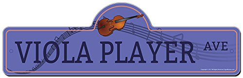 - SignMission Viola Player Street Sign | Indoor/Outdoor | Funny Home Décor for Garages, Living Rooms, Bedroom, Offices personalized gift