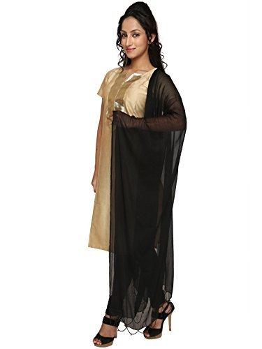 Beaded Scarf Pattern - Dupatta Bazaar Indian Casual Black Beaded Chiffon Dupatta, Scarf Shawl/Chunni