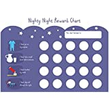 Bedtime Routine Reward Chart with Matching Stickers