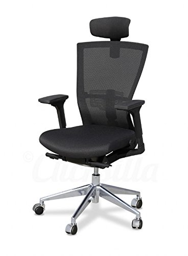 Actuestil - Silla de oficina radius con cabezal, color Negro