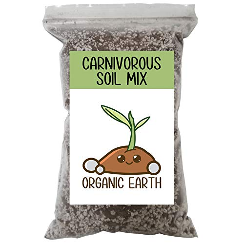 Carnivorous Plant Soil Mix for Venus Fly Traps Sundews & Pitcher Plants. Organic Terrarium Carnivore Plant Soil Made of Sphagnum Peat Moss and Perlite