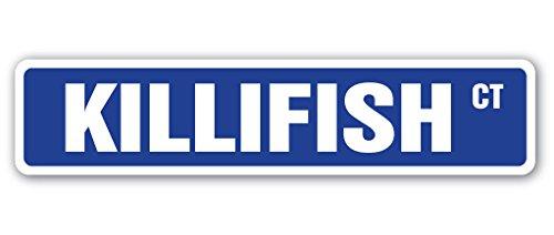 KILLIFISH Street Sign aquarium pupfish fish hobby streams | Indoor/Outdoor | 18