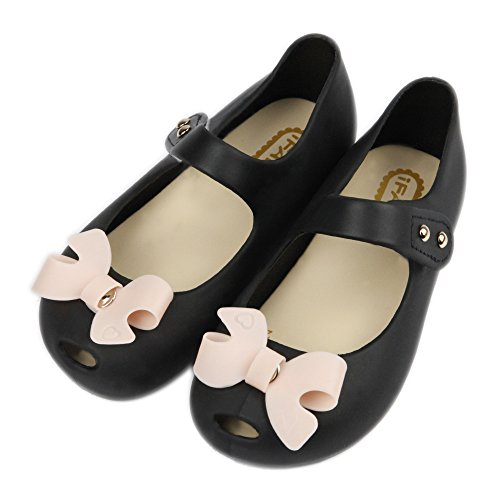 iFANS Women Girls Cute Bow Slip On Loafers Princess Mary Jane Flats