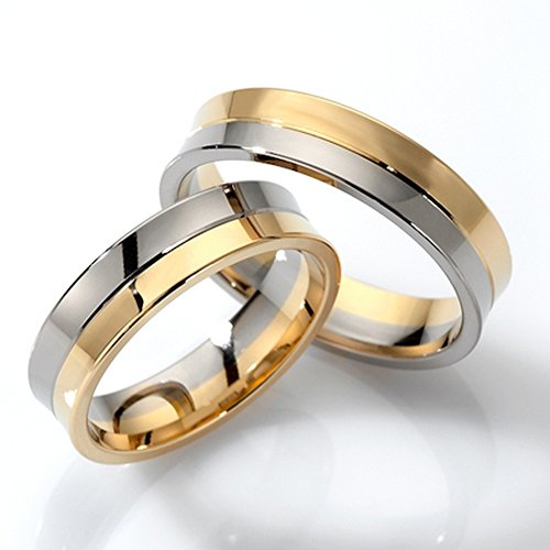 14k White and Yellow Gold His Her Rings 5 Mm by Appealing Wedding Bands