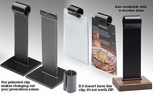 Menu-Roll® Plastic Table Tents (50) (MR7.5) NOT the Cheap foreign made replicas. By OPS, Inc.