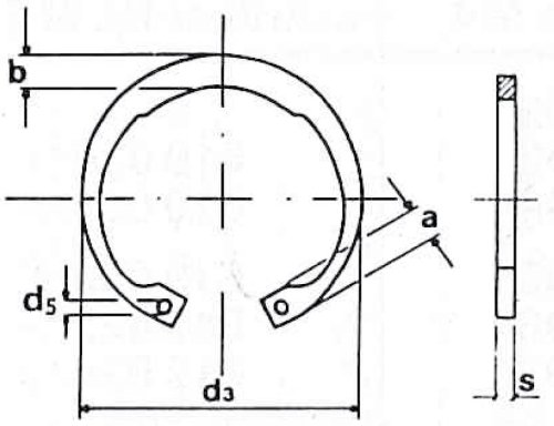 Retaining ring DIN 472 62mm by Maedler (Image #1)
