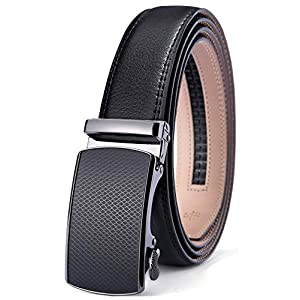 Men's Belt,Bulliant Slide Ratchet Belt For Men Dress Pant Shirt Genuine Leather,Trim To Fit